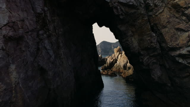 nammunbawi rock in hongdo island / sinan-gun, jeollanam-do, south korea - bergsvägg bildbanksvideor och videomaterial från bakom kulisserna
