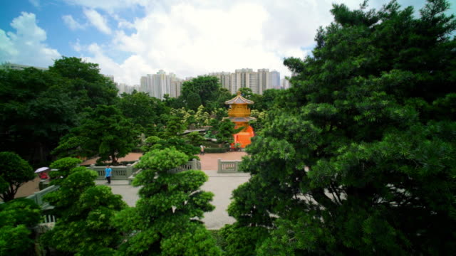 nan lian garden ,hong kong - pagoda stock videos & royalty-free footage
