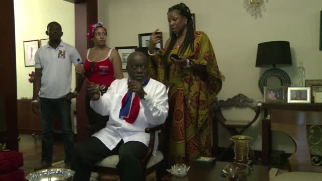 nana akufo addo spent years campaigning against military regimes that once led ghana and now with democracy firmly in place he is again running for... - president stock videos & royalty-free footage