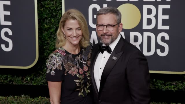 Nancy Carell and Steve Carell at the 75th Annual Golden Globe Awards at The Beverly Hilton Hotel on January 07 2018 in Beverly Hills California