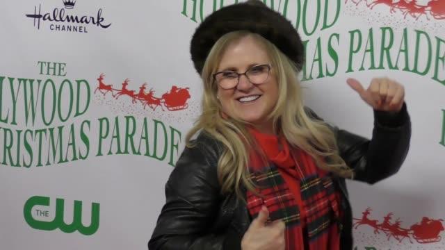 nancy cartwright at the 86th annual hollywood christmas parade on november 26 2017 in hollywood california - sfilata di natale di hollywood video stock e b–roll