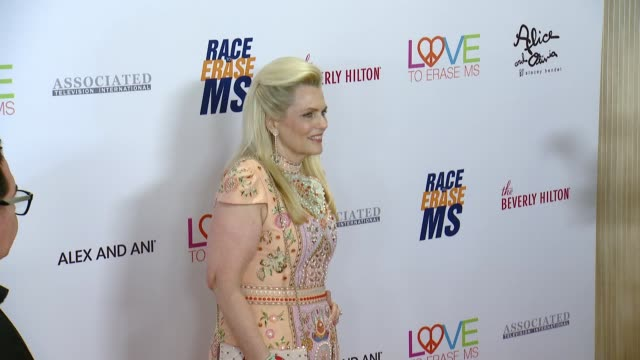 nancy davis at the 26th annual race to erase at the beverly hilton hotel on may 10, 2019 in beverly hills, california. - the beverly hilton hotel stock videos & royalty-free footage