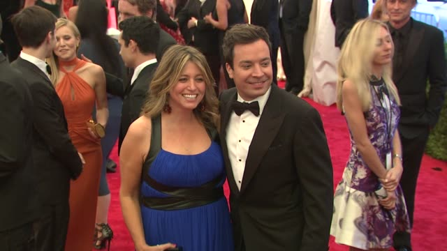 nancy juvonen jimmy fallon at schiaparelli and prada impossible conversations costume institute gala at metropolitan museum of art on may 07 2012 in... - jimmy fallon stock videos and b-roll footage