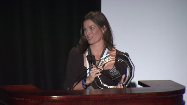 Nancy Kerrigan on sharing the same stage as Diana Ross at the The 26th Annual Sports Legends Dinner At The Waldorf Astoria In NYC Benefitting The...