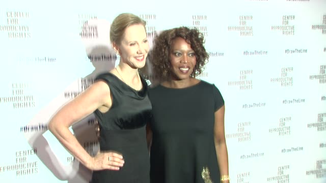 nancy northup and alfre woodard at center for reproductive rights 2013 gala at jazz at lincoln center on 10/29/13 in new york city . - アルフレ・ウッダード点の映像素材/bロール