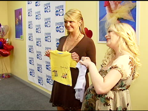nancy o'dell and tori spelling with gymboree clothing at the first annual sweet feet parties and sock drive kick off on february 15, 2007. - tori spelling stock videos & royalty-free footage
