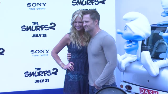 nancy o'dell at 'smurfs 2' los angeles premiere on 7/28/2013 in westwood, ca. - westwood video stock e b–roll