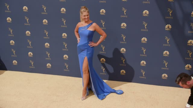 nancy o'dell at the 70th emmy awards arrivals at microsoft theater on september 17 2018 in los angeles california - 70th annual primetime emmy awards stock videos and b-roll footage
