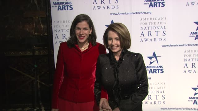 nancy pelosi and guest at the 2009 national arts awards at new york ny - nancy pelosi stock videos and b-roll footage