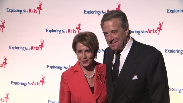 nancy pelosi and paul pelosi at 6th annual exploring the arts gala at cipriani 42nd street on october 04 2012 in new york new york - nancy pelosi stock videos and b-roll footage