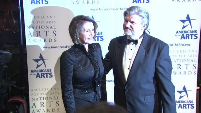 nancy pelosi and robert l lynch at the 2009 national arts awards at new york ny - nancy pelosi stock videos and b-roll footage