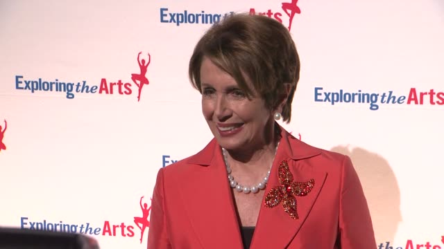 nancy pelosi at 6th annual exploring the arts gala at cipriani 42nd street on october 04 2012 in new york new york - nancy pelosi stock videos and b-roll footage