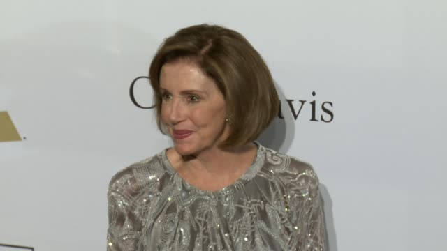 Nancy Pelosi at the 2017 PreGrammy Gala Honoring Debra L Lee With Grammy Salute To Industry Icons Award at The Beverly Hilton Hotel on February 11...