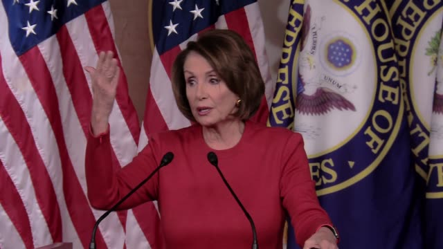 nancy pelosi, minority leader of the democrats in the u.s. house of representatives says flatly, donald trump will never be president of the united... - united states congress stock videos & royalty-free footage