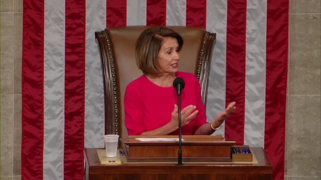 nancy pelosi of california begins remarks on the opening day of the 116th congress after her reelection as speaker with respect for all members and... - congress stock videos & royalty-free footage