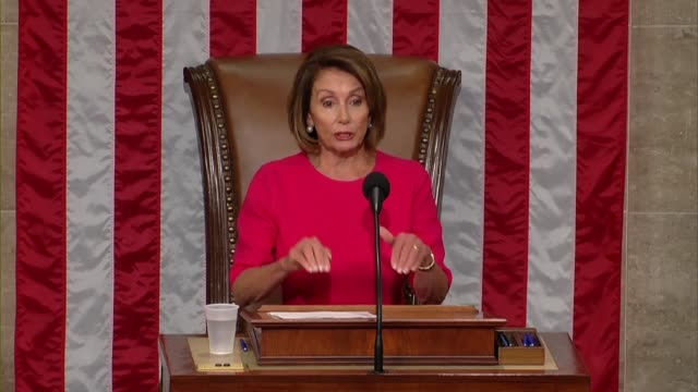 nancy pelosi of california says on opening day of the 116th congress after her reelection as speaker she is particularly proud to be speaker 100... - gavel stock videos & royalty-free footage