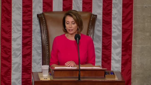 nancy pelosi of california says on the opening day of the 116th congress after her reelection as speaker that all of the sense of great hope and... - humility stock videos and b-roll footage