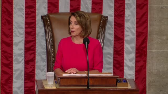 vídeos y material grabado en eventos de stock de nancy pelosi of california thinks her san francisco constituents on opening day of the 116th congress after her reelection as speaker for reelecting... - distrito electoral