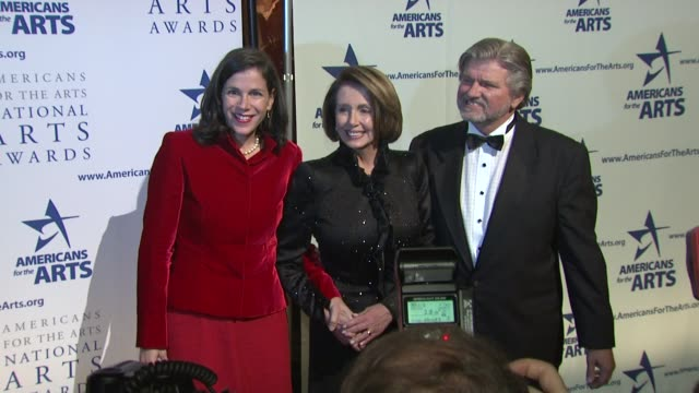 nancy pelosi robert l lynch and guests at the 2009 national arts awards at new york ny - nancy pelosi stock videos and b-roll footage