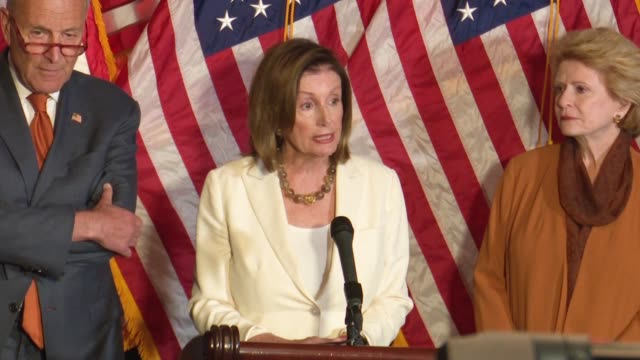nancy pelosi says at a press conference focused on background check legislation after mass shootings a month earlier in dayton and el paso that her... - nancy pelosi stock videos and b-roll footage