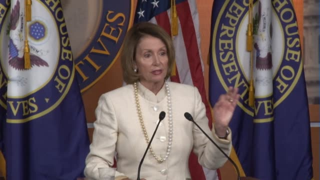 """vídeos y material grabado en eventos de stock de nancy pelosi says """"there is excitement"""" about announced deal, wants her members to consult with their constituents. - distrito electoral"""