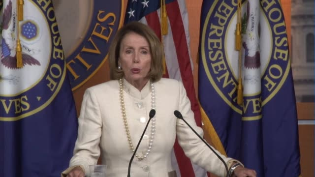 nancy pelosi tells reporters she is ready to move past confederate flag issue to celebrating recommitting to voting rights act - confederate flag stock videos & royalty-free footage