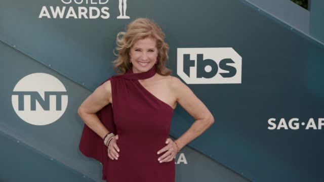 nancy travis at the 26th annual screen actors guild awards - arrivals at the shrine auditorium on january 19, 2020 in los angeles, california. - screen actors guild awards stock-videos und b-roll-filmmaterial