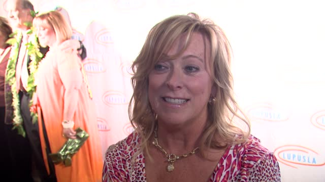 nancy utley on being honored the event the economy's impact on charity her activism at the 9th annual lupus la orange ball at beverly hills ca - lupus la orange ball video stock e b–roll
