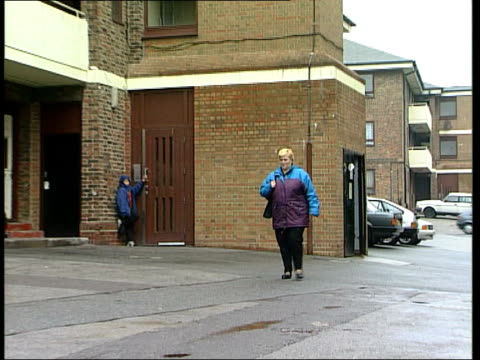 Nancy West towards down pavement BV West away into house Nancy West interview SOT trying to claim again / will be �'£6000 in arrears before...