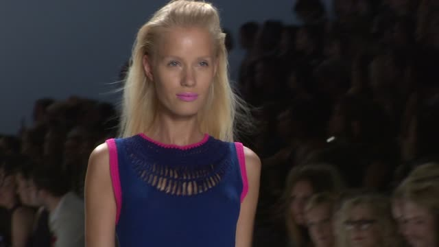 stockvideo's en b-roll-footage met nanette lepore spring 2012 mercedesbenz fashion week new york ny united states - geproduceerd segment