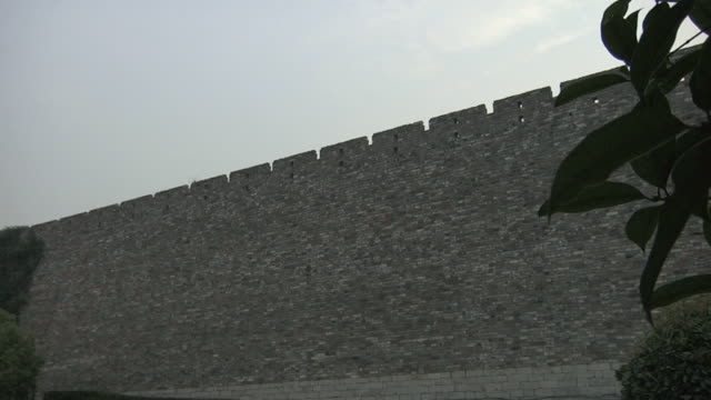 ws la nanjing city wall / nanjing, jiangsu, china - nanjing stock-videos und b-roll-filmmaterial