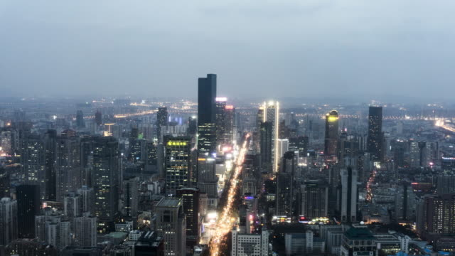 nanjing night time lapse - nanjing stock-videos und b-roll-filmmaterial