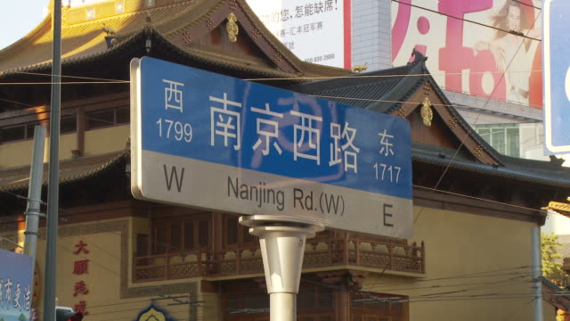 Nanjing Road sign in Shanghai China