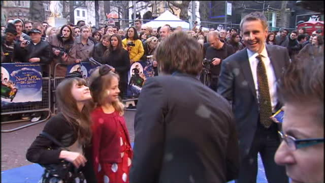'nanny mcphee and the big bang' premiere at leicester square in london shows exterior shots of dermot murnaghan arriving on the red carpet with his... - dermot murnaghan stock-videos und b-roll-filmmaterial