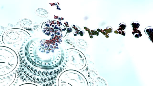 dna nanotec gears - nanotechnology stock videos & royalty-free footage