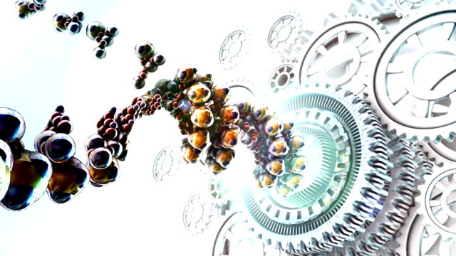 dna nanotec gears - cog stock videos & royalty-free footage