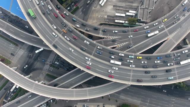 vidéos et rushes de jonction de route aérienne pour le pont nanpu - échangeur