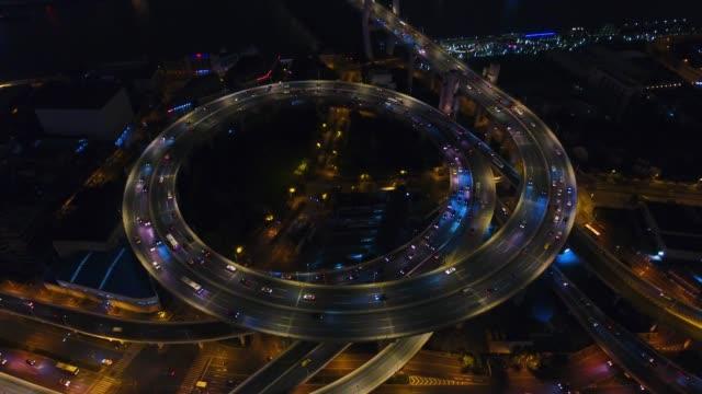 vídeos de stock, filmes e b-roll de nanpu ponte aérea viev - junção de rua ou estrada