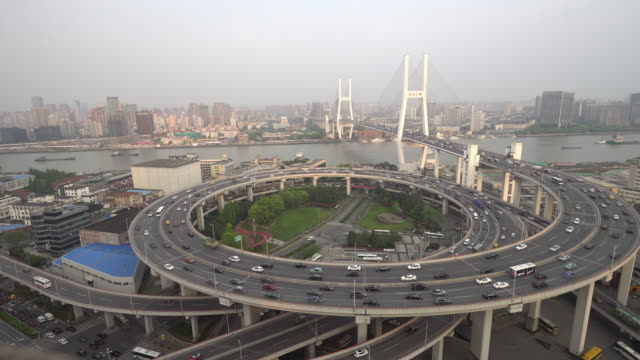 南浦大橋、上海 - 螺旋形点の映像素材/bロール