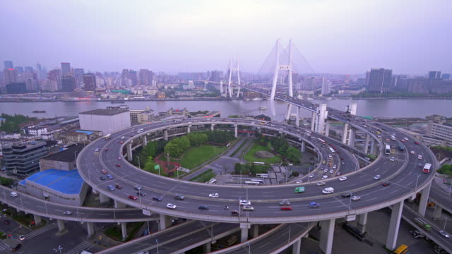 南浦大橋 - 螺旋形点の映像素材/bロール