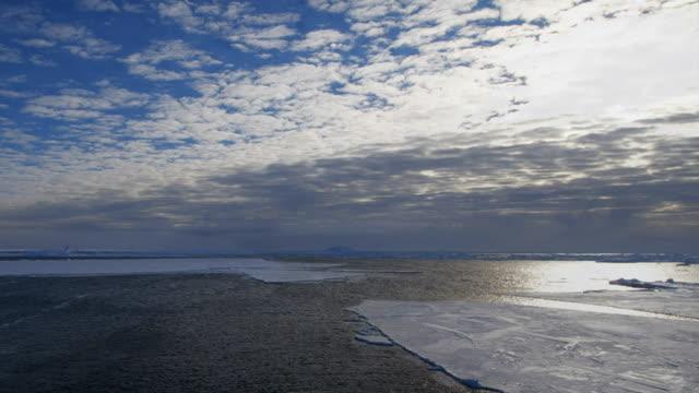 nansen fjord in antarctica collapse (time lapse) - nansen fjord stock videos & royalty-free footage