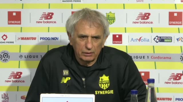 nantes coach vahid halilhodzic speaks of the terrible unfair truth after the discovery of the body of argentine striker emiliano sala who died in a... - nantes stock videos & royalty-free footage