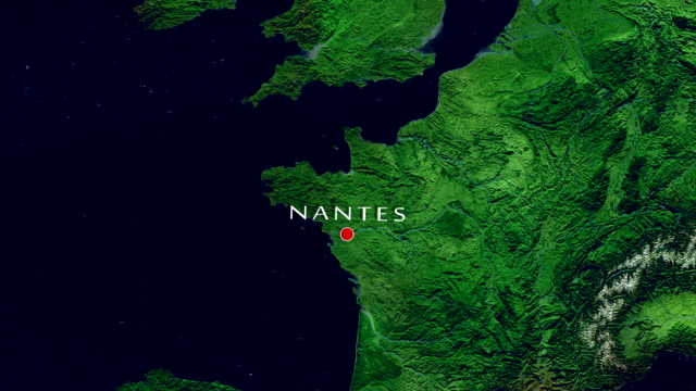 nantes-zoom in - nantes stock-videos und b-roll-filmmaterial