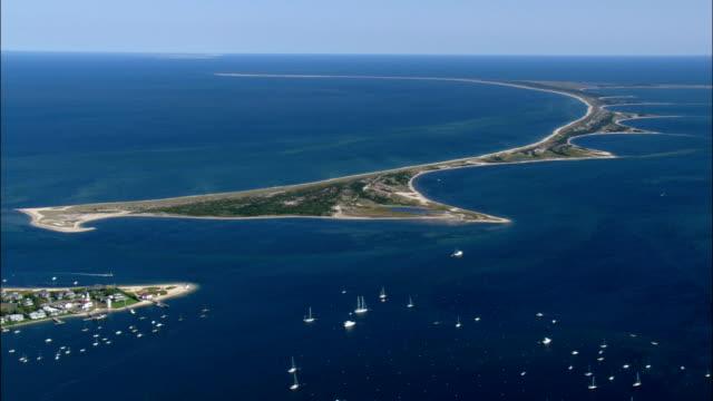 Nantucket Hafen - Luftbild - Massachusetts, Nantucket County, Vereinigte Staaten von Amerika