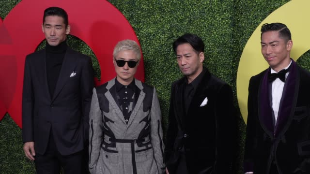 Naoki Kobayashi Verbal Hiroyuki Igarashi and Akira at the GQ 2018 Men of the Year Celebration at Benedict Estate on December 06 2018 in Beverly Hills...