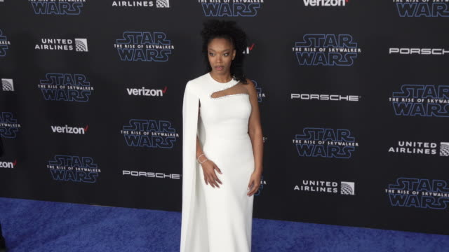 """naomi ackie at the premiere of disney's """"star wars: the rise of skywalker"""" on december 16, 2019 in hollywood, california. - star wars stock videos & royalty-free footage"""