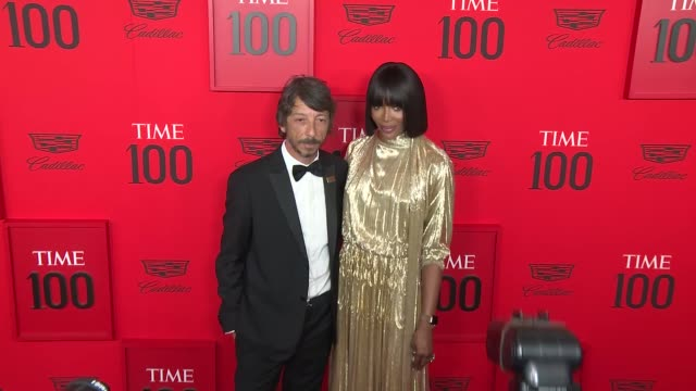 naomi campbell and pier paolo piccioli at time 100 most influential people in the world at jazz at lincoln center on april 23 2019 in new york city - naomi campbell stock videos & royalty-free footage