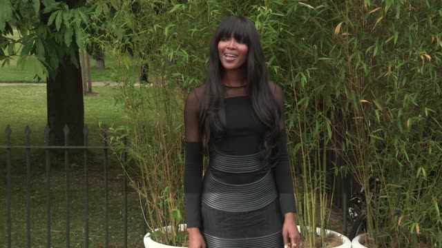 naomi campbell arriving for the summer party at the serpentine gallery on june 26 2013 in london england - the serpentine gallery stock videos & royalty-free footage