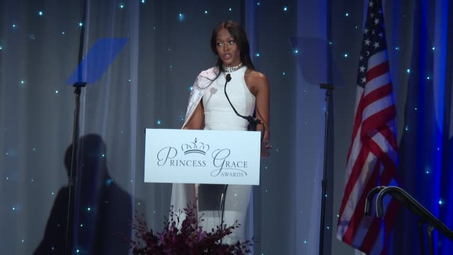 speech naomi campbell at 2016 princess grace awards gala at cipriani 25 broadway on october 24 2016 in new york city - cipriani manhattan stock videos & royalty-free footage