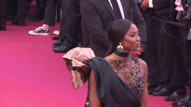 naomi campbell at blackkklansmann red carpet arrivals the 71st cannes film festival at grand theatre lumiere on may 14 2018 in cannes france - naomi campbell stock videos & royalty-free footage